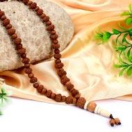 9 mukhi Durga Mala from Java with Sandalwood beads
