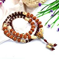9 Mukhi Rudraksha and Gomed Mala