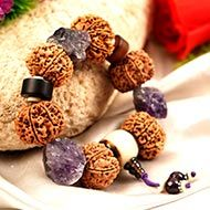 9 Mukhi and Amethyst gemstone bracelet (Crown)