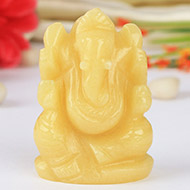 Ivory Yellow Jade Ganesha - 78 gms