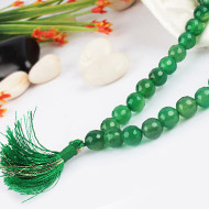 Light Green Agate Faceted mala - 8mm