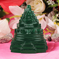 Green Jade shree Yantra - 245 gms