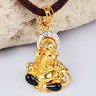 Ganesh Pendant in Gold - 2.68 gms
