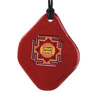 Hanuman Yantra Pendant on Red Jasper