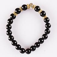 Black Agate Buddha Bracelet - I