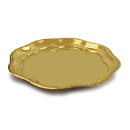 Floral Plate in brass