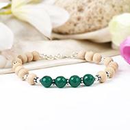 Green Onyx and Tulsi Bracelet