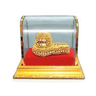 Parad lingam adorned with divine apparel