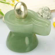 Parad Lingam with Green Jade  Yonibase - I