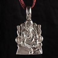Aasan Ganesh Locket in Pure Silver