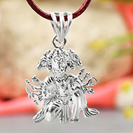 Panchamukhi Hanuman Locket in pure silver