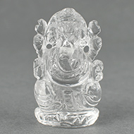 Ganesh Idol in pure quartz - 35 gms