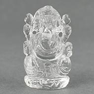 Ganesh Idol in pure quartz - 35 gms