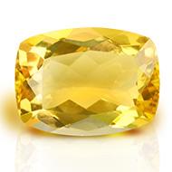 Yellow Citrine - 7.35 carats - Cushion