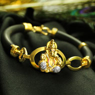 Ganesha Bracelet in pure Gold