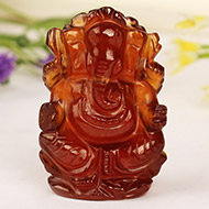 Gomedh Ganesha  -  125 carat