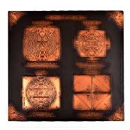Shree Sarva Rog Nivaran Maha yantra in Copper - Antique finish - 9 inches