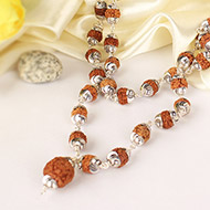 Mars Power Mala 54+1 beads in Silver with sel..