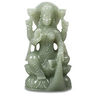 Laxmi in Light Green Jade-1.603 Kgs