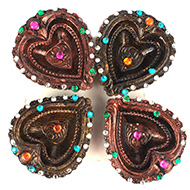 Diwali Earthen Diyas - Set of 4 - Design V