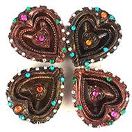 Diwali Earthen Diyas - Set of 4 - Design V