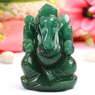 Ganesha in Australian Green Jade - 135 gms