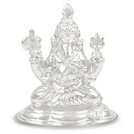 Vignaharta Ganesh in pure silver