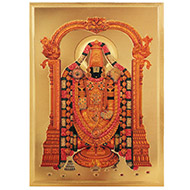 Lord Venkateshwara Photo in Golden Sheet - Large