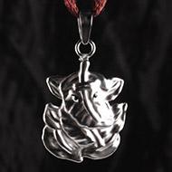 Ganesh Locket in Pure Silver - Design I