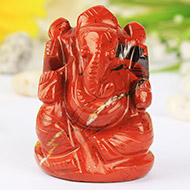 Ganeshji in Red Jasper - 106 gms