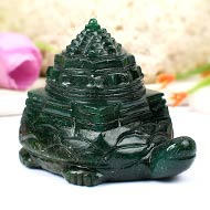 Kurma shree Yantra in Green Jade - 164 gms