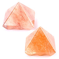Multi Pyramid in Natural Orange Jade - Set of 2