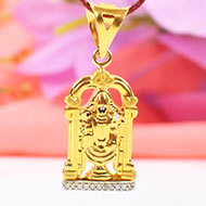Tirupati Balaji locket in pure gold - 3.10 gms