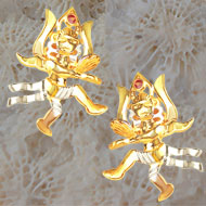 Gold Plated Lord Shiva Earrings