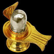 Parad lingam in brass yoni