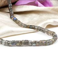 Labradorite Neckalce - Washer shape beads