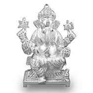 Heavy design Ganesha in pure silver - Big