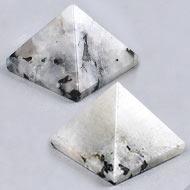 Snowflakes  Obsidian Pyramid - Set of 2