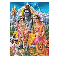 Lord Shiv Parivar Photo - Large