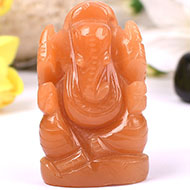 Red Jade Ganesh - 84 gms