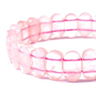 Rose Quartz Faceted Bracelet - IV