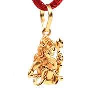 Shiva Parvati Locket in Pure Gold - 3.19 gms