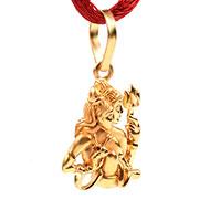 Shiva Parvati Locket in Pure Gold - 3.19 gms