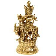 Manmohan Krishna with Peacock and Gomatha
