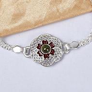 Pure silver Rakhi - Design V
