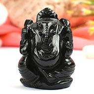 Black Agate Ganesha - 74 gms