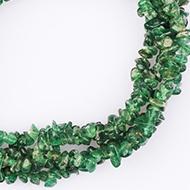 Aventurine uncut beads necklace