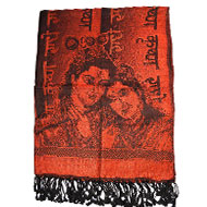 Radha Krishna Shawl in Soft Jacquard Fabric -..