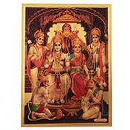 Ram Parivar Photo in Golden Sheet - Large