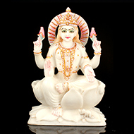 Goddess Mahalaxmi in white marble idol